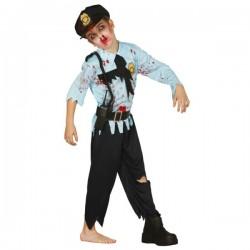 Disfraz de policía zombie para niño - Imagen 1