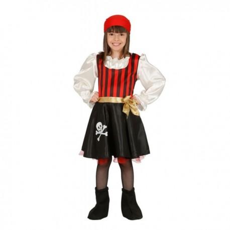 Disfraz de pirata calavera para niña - Imagen 1