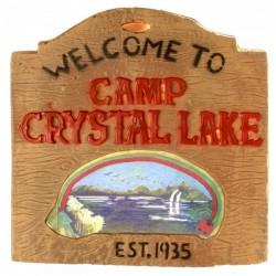 Cartel Crystal Lake Sign Viernes 13 - Imagen 1