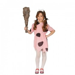 Disfraz de Pebbles picapiedras para niña - Imagen 1