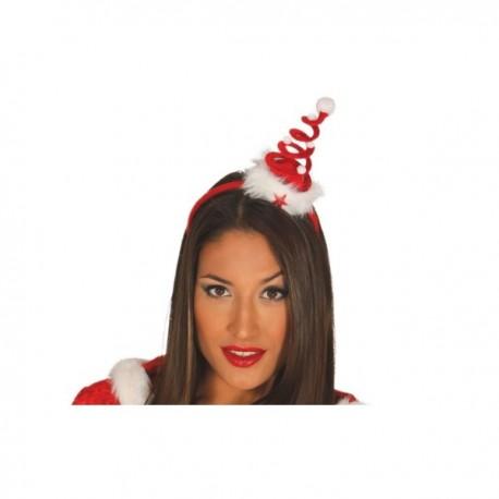 Diadema de árbol de navidad espiral para mujer - Imagen 1