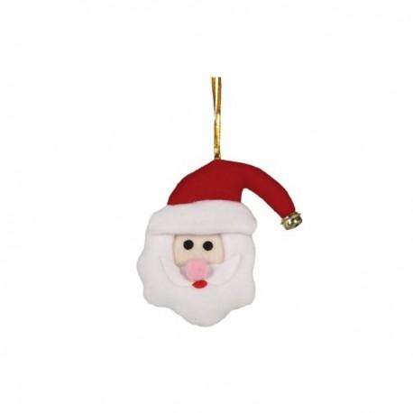 Adorno de cabeza de Papá Noel 11 cm - Imagen 1