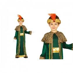 Disfraz de rey mago Baltasar para niño - Imagen 1