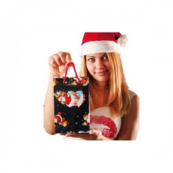 Bolsas navideñas decoradas 20x15 cm - Imagen 1