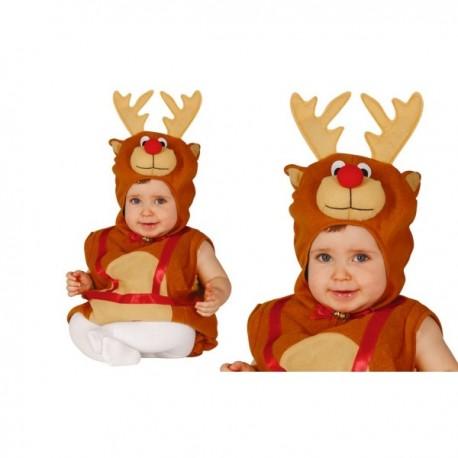 Disfraz de reno tierno para bebé - Imagen 1