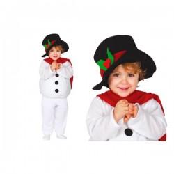 Disfraz de muñeco de nieve tierno para bebé - Imagen 1