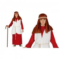 Disfraz de pastor hebreo rojo para niño - Imagen 1