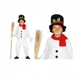 Disfraz de muñeco de nieve divertido para niño - Imagen 1