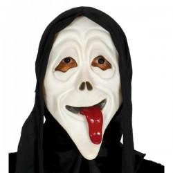 Careta de Scream con lengua y capucha - Imagen 1