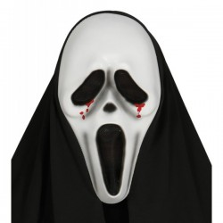 Careta de Scream lágrimas de sangre con capucha - Imagen 1