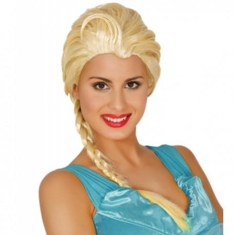Peluca de princesa de hielo para mujer - Imagen 1