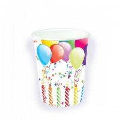 Set de 8 vasos globos cumpleañeros - Imagen 1