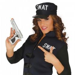 Pistola de detective plata - Imagen 1