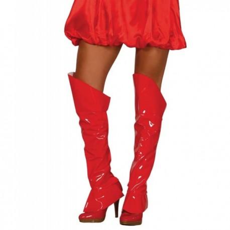 Cubrebotas rojas sexys para mujer - Imagen 1
