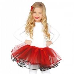 Tutú rojo deluxe para niña - Imagen 1