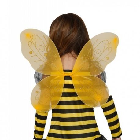 Alas de abejita amarilla para niña - Imagen 1