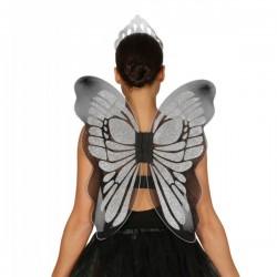 Alas de mariposa de plata para mujer - Imagen 1