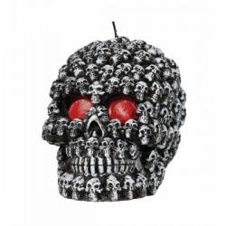 Vela de calavera Halloween 10 cm - Imagen 1