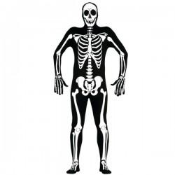 Disfraz de esqueleto segunda piel para hombre - Imagen 1