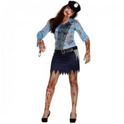 Disfraz de policía zombie para mujer - Imagen 1