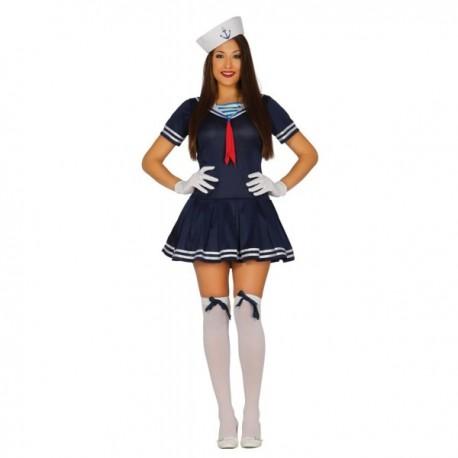 Disfraz de marinera azul sexy para mujer - Imagen 1