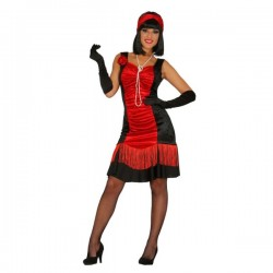 Disfraz de charlestón rojo para mujer - Imagen 1