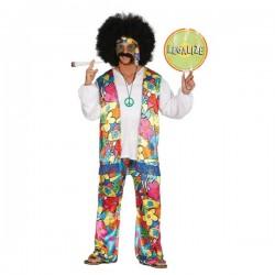 Disfraz de hippie libre para hombre - Imagen 1