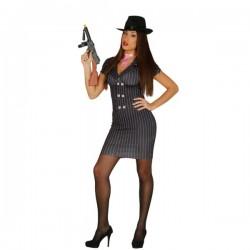Disfraz de gángster sexy para mujer - Imagen 1
