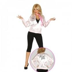 Chaqueta pink girls años 50 para mujer - Imagen 1