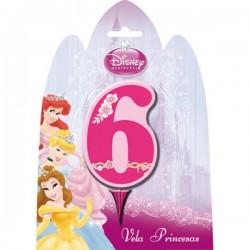Vela número 6 de las Princesas Disney - Imagen 1