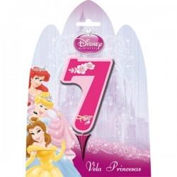 Vela número 7 de las Princesas Disney - Imagen 1