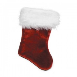 Bota Papá Noel de terciopelo 53 cm - Imagen 1