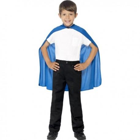 Capa de superhéroe color azul para niño - Imagen 1