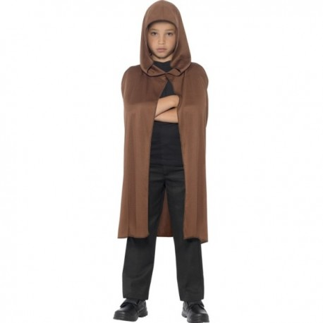 Capa marrón con capucha para niño - Imagen 1