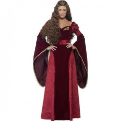 Disfraz de reina medieval para mujer - Imagen 1