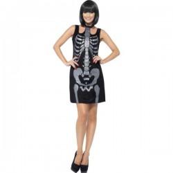 Disfraz de esqueleto sexy para mujer - Imagen 1