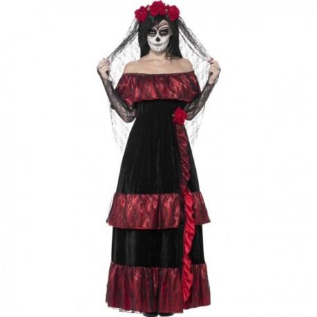 Disfraz de Catrina deluxe para mujer - Imagen 1