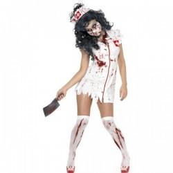 Disfraz de enfermera caminante zombie - Imagen 1