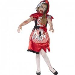 Disfraz de caperucita roja zombie para niña - Imagen 1