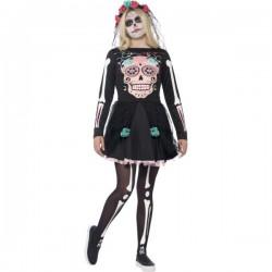 Disfraz de muerte mexicana elegante con para mujer - Imagen 1