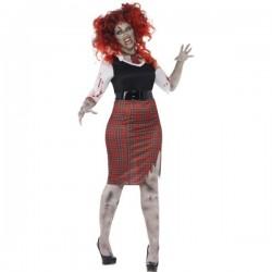 Disfraz de colegiala zombie para mujer talla grande - Imagen 1