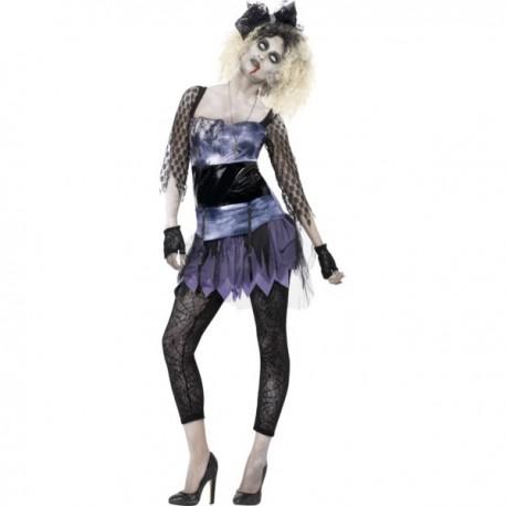 Disfraz de los años 80 zombie para mujer - Imagen 1