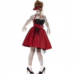 Disfraz rockabily zombie para mujer - Imagen 1