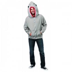 Chaqueta de tiburón con capucha para adulto - Imagen 1