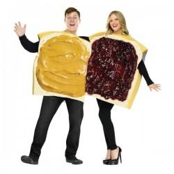 Disfraz para pareja de sándwich de mantequilla de cacahuete con mermelada - Imagen 1