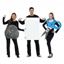 Disfraz grupal de piedra, papel y tijera para adultos - Imagen 1