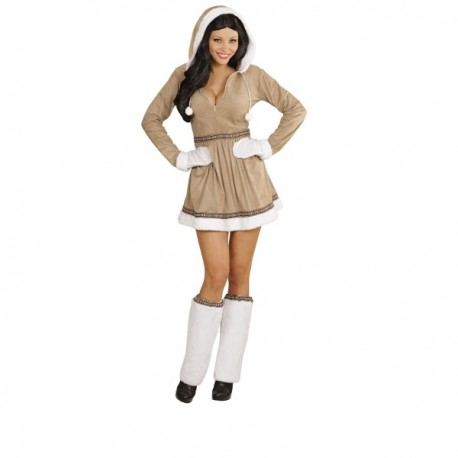 Disfraz de esquimal sexy para mujer - Imagen 1