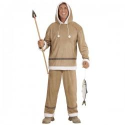 Disfraz de esquimal para hombre talla grande - Imagen 1