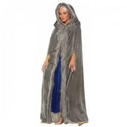 Capa medieval gris para mujer - Imagen 1