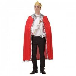 Capa y corona de rey para hombre - Imagen 1